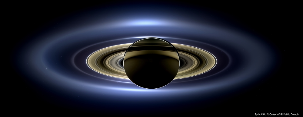 nasa-jpl backlit saturn